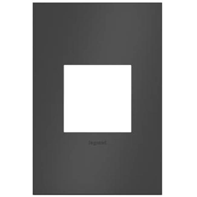 Adorne Satin Black, 1-Gang  Wall Plate