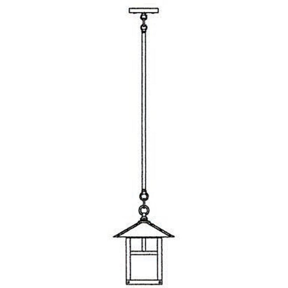 Arroyo Craftsman 9'' Evergreen Stem Hung Pendant With T-Bar Overlay