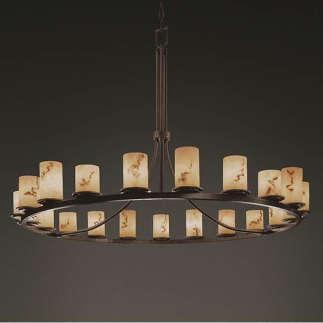 Justice Design Dakota 21-Light 1-Tier Ring Chandelier
