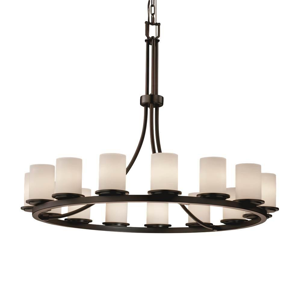 Justice Design Dakota 15-Light 1-Tier Ring LED Chandelier