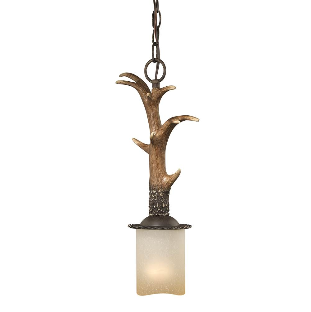 Vaxcel Yoho Bronze Rustic Antler Mini Pendant Ceiling Light