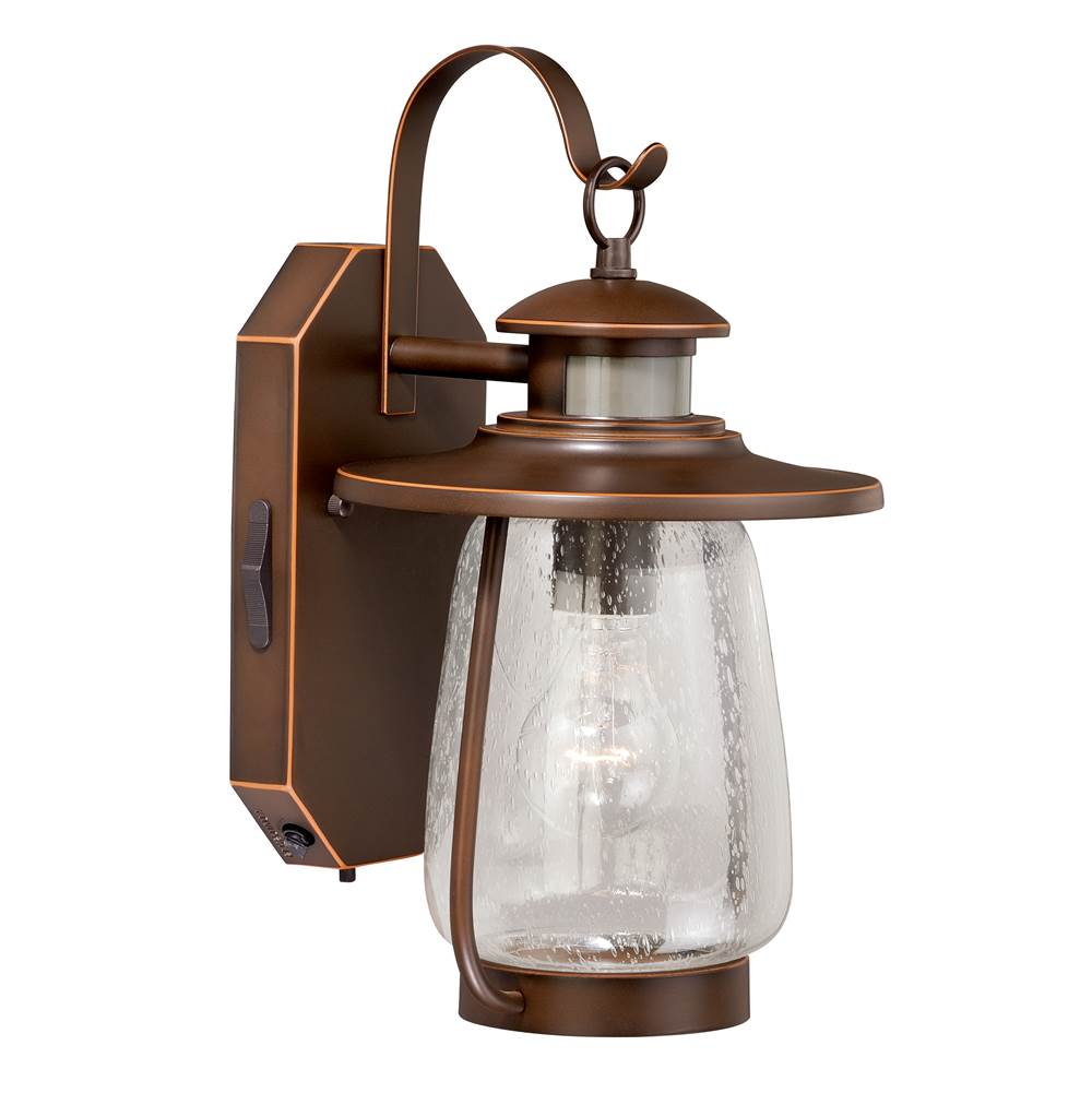 Vaxcel Galway Bronze Motion Sensor Dusk to Dawn Coastal Outdoor Wall Light