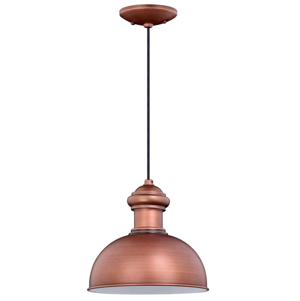 Vaxcel Franklin 1 Light Copper Farmhouse Outdoor Barn Dome Pendant